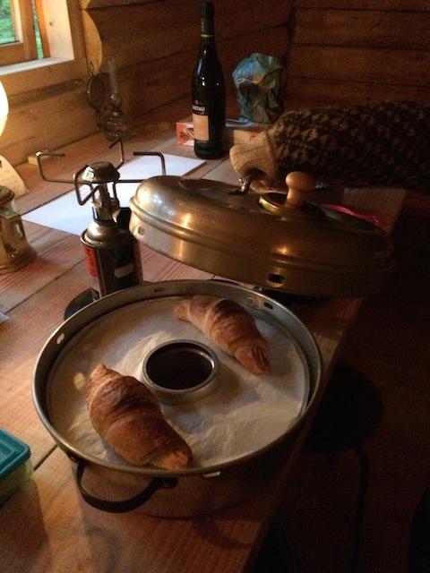 Så er der croissanter - alt lykkes i en gasovn - også en minigasovn.