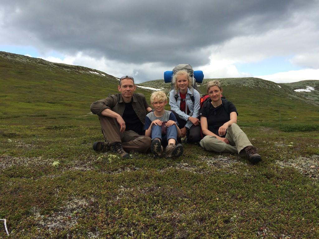 Det obligatoriske billede i fjeldet, fra en dejlig ferie i Sverige